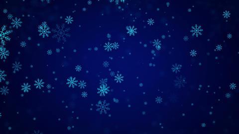 Beautiful Snowflakes - winter background Animation