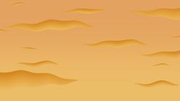 Cartoon animation of a sunset Footage