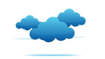 cartoon clouds motion graphic on white background After Effects Template