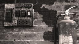 Old Vintage Electrical Panel in Vietnamese Housing Footage