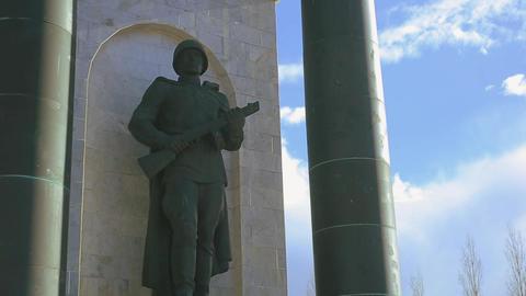 arc de triomphe Art Kursk soldier 2 影片素材