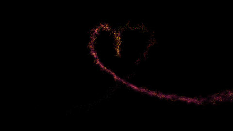 Traced Particle heart Stock Video Footage