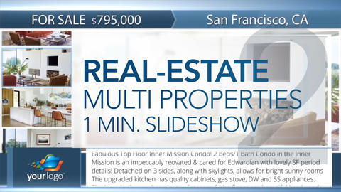 Real-Estate Multi Properties 1min Slideshow 2 - Apple Motion and Final Cut Pro X Apple Motion Template