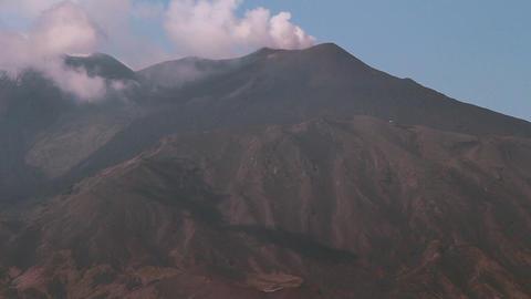 Etna smoking Footage
