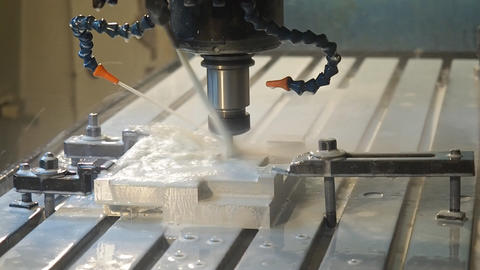 milling parts on the machine table Live Action