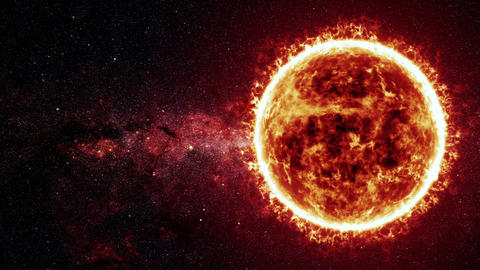 Sun surface and solar flares animation Animation