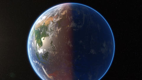Spining Earth And Zoom In stock footage