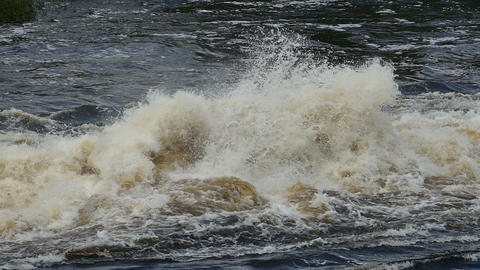 bursts and splashes of a seething water, slomo Footage