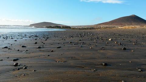 Deserted Beach Ocean Footage