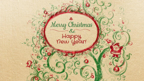 Merry Christmas and Happy New Year video card Animation