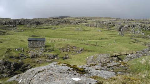 Typical landscape on the Faroe Islands Footage