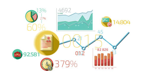 Flat Animated Icons Business Infographics ภาพเคลื่อนไหว