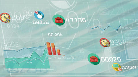 Flat Animated Icons Business Infographics CG動画素材
