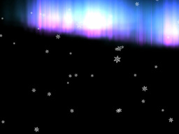 Snowflakes with Aurora Effects Animation