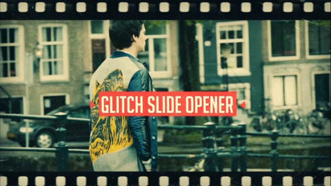 Glitch Slide After Effects Template
