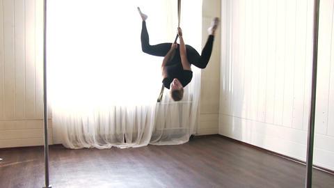 Aerial Gymnast Workout Footage