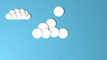 Falling Balls creating different cartoon Clouds After Effects Template