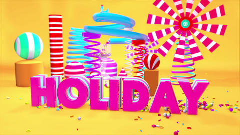 Holiday Motion Graphics PlayGround 3D CG動画素材