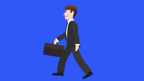 Businessman Walk Cycle 1 stock footage