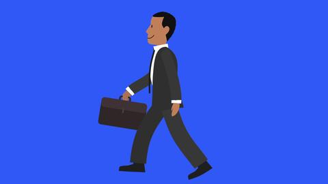 Businessman Walk Cycle 2 Animation