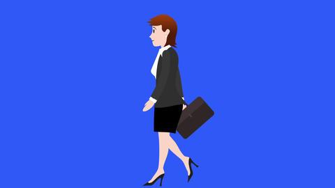 Businesswoman Walk Cycle 1, Stock Animation
