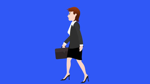 Businesswoman Walk Cycle 1 stock footage