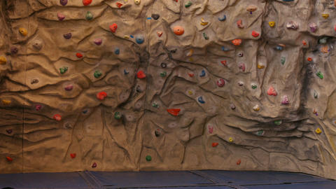 Rock climbing wall Footage