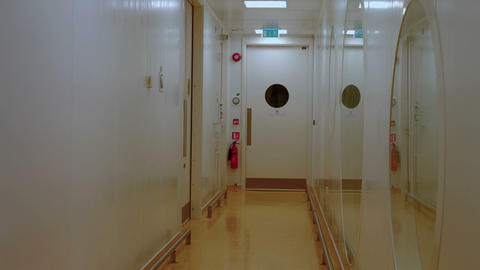Corridor of a lab Footage