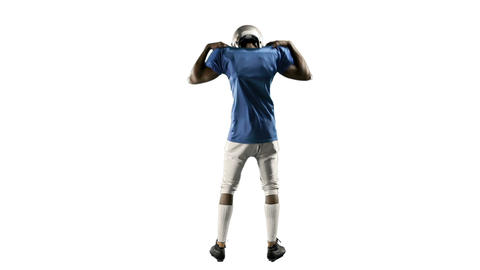 Frustrated american football player motivating himself Footage