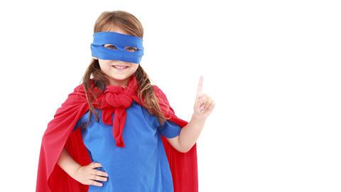Little girl dressed up as superhero Footage