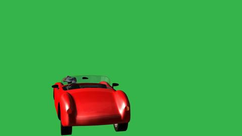 Stunt Driver Ejected from Sports Car: + Matte Animation