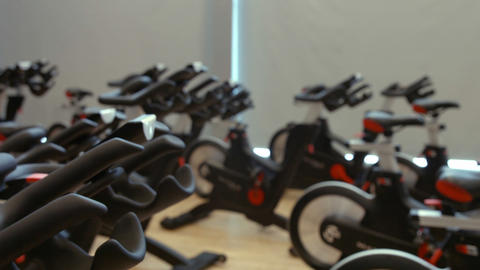 Exercise equipment in the studio Live Action