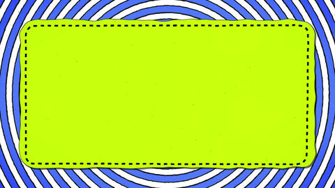 Blue Stripes Rounds Yellow Rectangle Shape Background For Text Animation