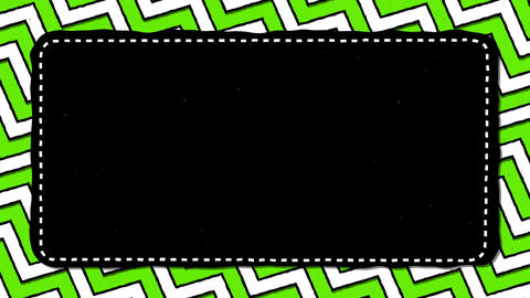 Green Stripes Zig Zag Black Rectangle Shape Background For Text Animation