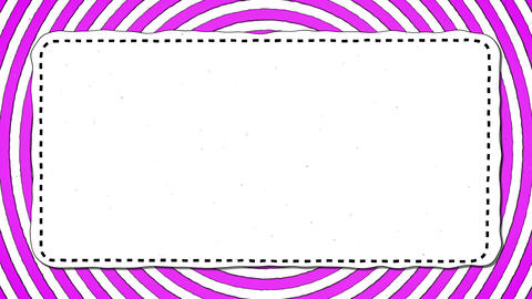 Pink Stripes Rounds White Rectangle Shape Background For Text Animation