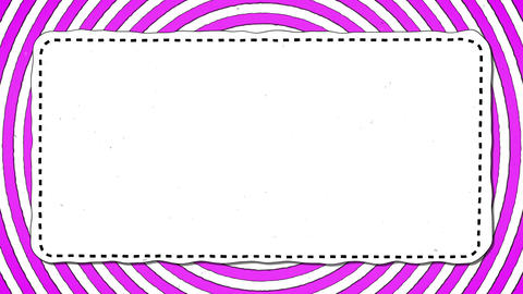 Pink Stripes Rounds White Rectangle Shape Background For… Stock Video Footage