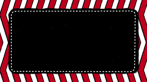Red Stripes Zig Zag Black Rectangle Shape Background For Text Animation
