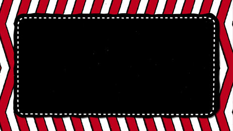 Red Stripes Zig Zag Black Rectangle Shape Background For… Stock Video Footage