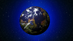 Twinkling stars with planet Animation