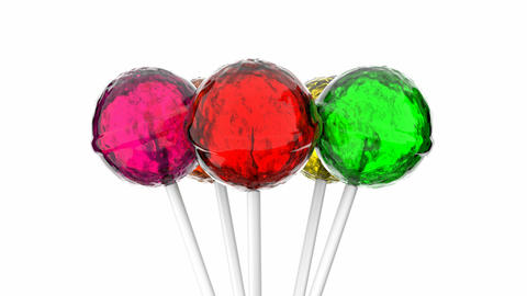 Colorful lollipops Animation