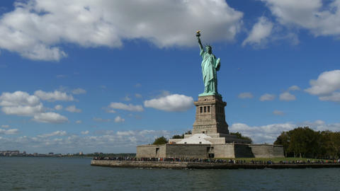 Liberty Statue view from Boat Footage
