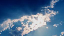 Sunset Blue Clouds Ans Sun Footage