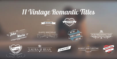 11 Vintage Romantic Titles After Effectsテンプレート
