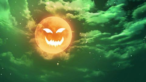 pumpkin face Halloween moon Animation