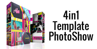 4in1 Template PhotoShow After Effects Project