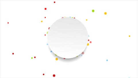 Bright circles and blank label video animation Animation