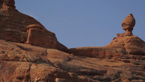Right Pan of a Rock Formation in Arches National Park Footage