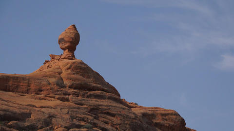 Left Pan of a Rock Formation in Arches National Park Footage