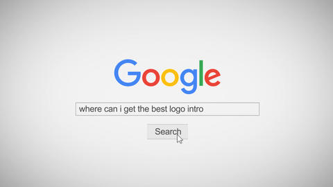 New Google Logo Search Type Business Logo SEO Promo After Effects Template