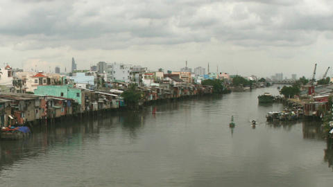 River In Ho Chi Minh City, Vietnam stock footage
